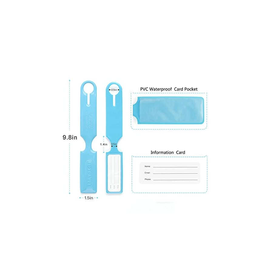 Landisun Luggage tags, Bag Tags for Baggage Tags Travel Tags ID Card of 10 Pack (Mult)