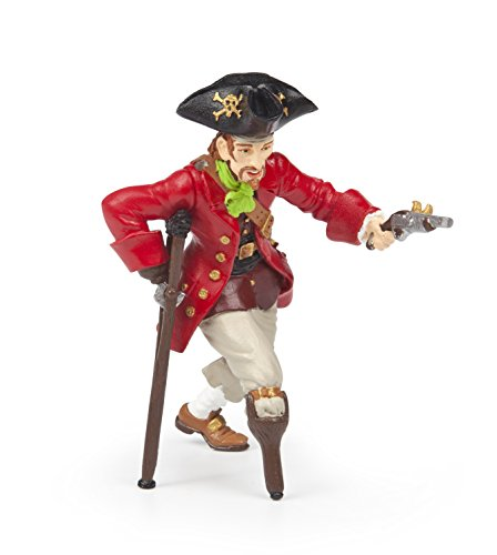 Papo Wooden Leg Pirate with Gun Toy Figure (World Sea Statue)