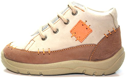 Jela Zapatos de Bebé 51.056.72 Unisex- Botinetas Niños Beige (Cacao/Beige/Naranja)