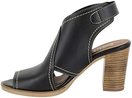Bella Vita Womens Vivitaly Open Toe Casual Ankle Strap Size 5.0 Black Leather
