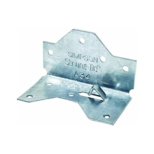 Simpson Strong Tie A34-100 18-Gauge Framing Angle (100-Per Box) - A34 Framing