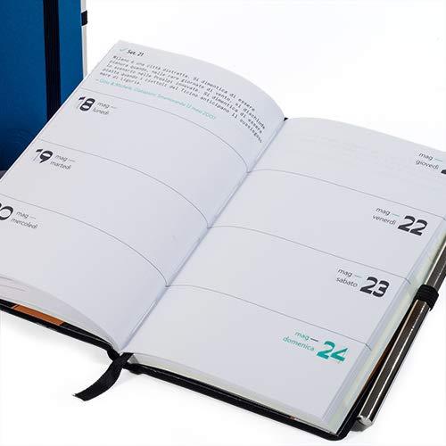 Smemoranda agenda 12 mesi 2020 soft-touch settimanale 11,2x16,4 colore antracite