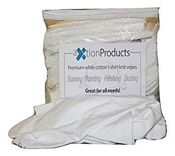 New Premium White T-Shirt Material Cloth Rags (1 lb)