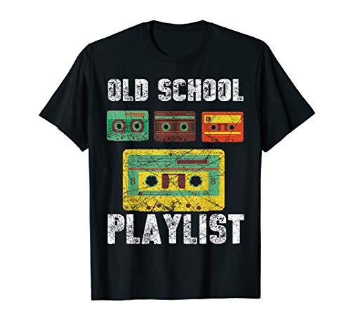 Cassette Tape Music TShirt Retro 80s 90s Old School Playlist