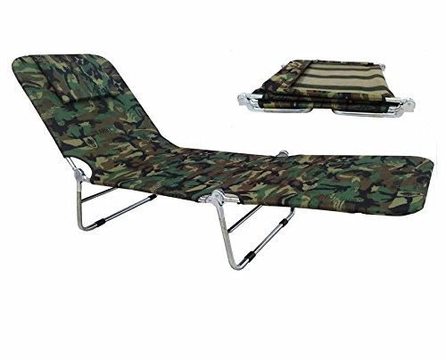 Durable fabric plaid Folding Bed (Green camouflage) (Da Vinci Broom compare prices)