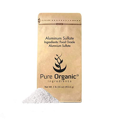 Aluminum Sulfate (1 lb.) by Pure Organic Ingredients, Pure Dry Alum, Soil Acidifier, Hide Tanner, Water Treatment (Also Available in 4 oz & 2 lb)