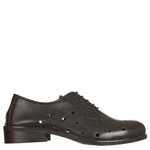 para VialeScarpe Ers mujer 35 cordones de 35 negro Zapatos megvtne negro negro YOdqrY