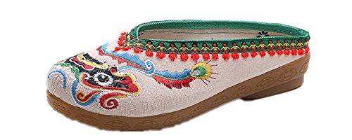 Platform Shoes With Goldfish (Tianrui Crown Women & Ladies The Goldfish Embroidery Sandal Slipper Shoes)