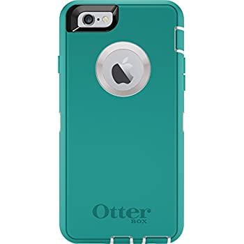 new arrivals 96aae b17bb OtterBox DEFENDER iPhone 6/6s Case - Frustration Free Packaging - SEACREST  (WHISPER WHITE/LIGHT TEAL)