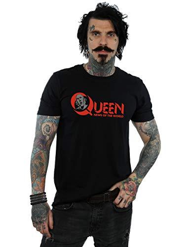 negra mundo Noticias camiseta del Absolute Logo Men Queen Cult wx8az