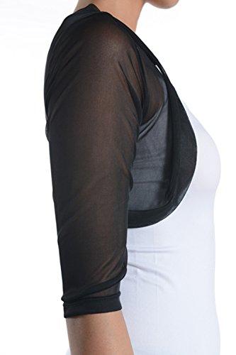 Fashion Secrets Junior S Sheer Chiffon Bolero Shrug Jacket