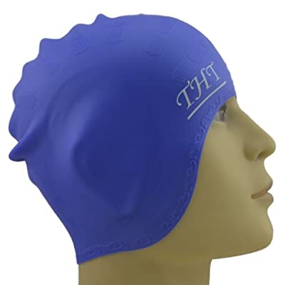 #1 Long Hair Silicone Swim Cap - Perfect To Keep Hair Dry - Suitable For Girls With Long Hair - Unisex Women and Men - 100% Satisfaction Money Back Guarantee.