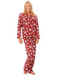 Del Rossa Women's 100% Cotton Lightweight Flannel Pj Set
