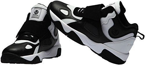 Paperplanes-1354 Unisex Velcro Mid-top Mode Sneakers Schoenen Zwart Wit