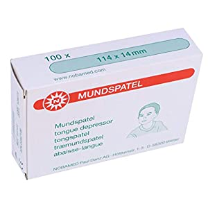 100 Espátula de Madera Espátulas para Niños para Manualidades 114 mm x 14 mm de Noba Verbandmittel 18