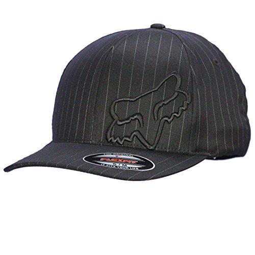 Fox Men's Flex 45 Flexfit Hat, Black Pinstripe Small/Medium
