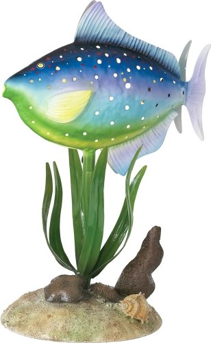Tropical Fish Metal Accent Table Lamp