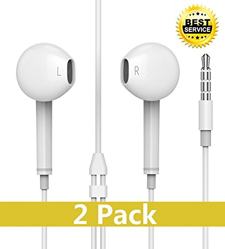 Wodo iPhone Headphones Ear Buds with Mic Remote Volume Contr