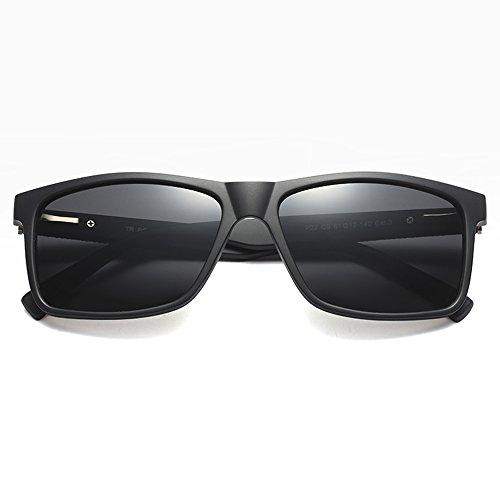 caja de marrón hombres hombres cuadrado para de el TL Rectángulo gafas TR90 negro UV400 Sunglasses sol una sol de polarizadas para polarizadas gafas con conductor TTq17
