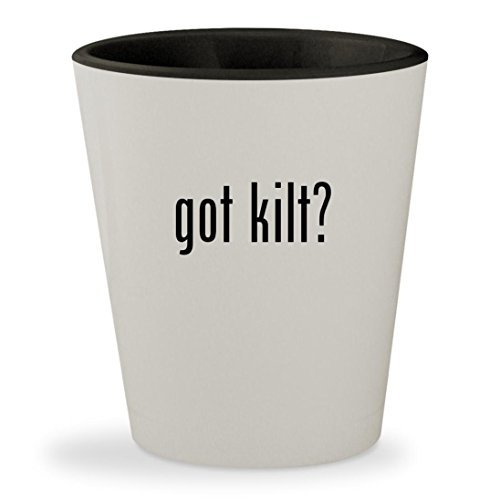 got kilt? - White Outer & Black Inner Ceramic 1.5oz Shot - Kilt Lifter Beer