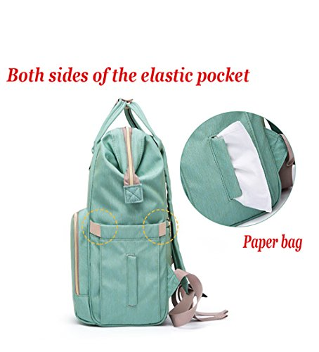 Diaper Bag Backpack, Waterproof Large Capacity Features Stylish Durable Travel Backpack by Yuanyang (Image #6)