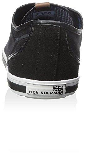 Ben Sherman Uomo Connall Lo Sneaker Di Moda Lace-up Nero Jet