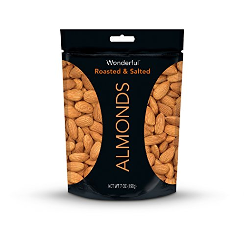 Wonderful Almonds, Roasted and Salted, 7 Ounce Bag (Salted Water)