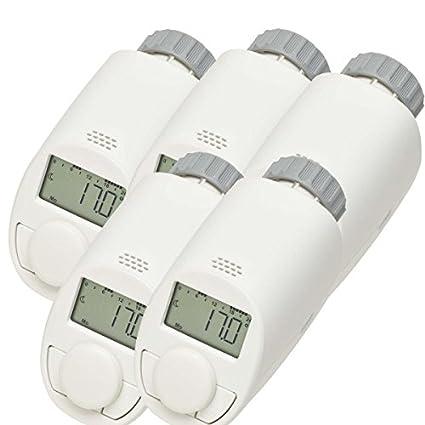 Juego de 5 de tipo N Elektronik de Radiador de termostato con función Boost, ahorro