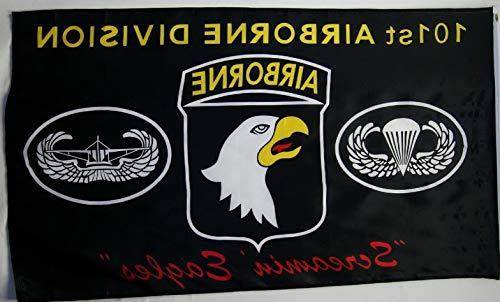 Caps Eagle Screamin End - Hebel 3x5 Black Army 101st Airborne Division Screamin Eagles Flag 3x5 House Banner   Model FLG - 111