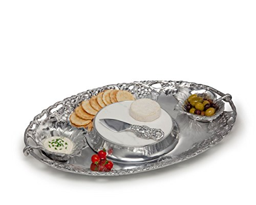 Pieces Serving Pewter (Arthur Court Grape 5-Piece 20-Inch by 13-Inch Entertainment Tray)
