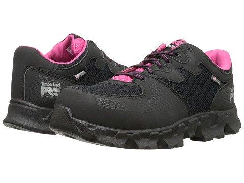 (ティンバーランド)Timberland レディースウォーキングシューズ?カジュアルスニーカー?靴 Powertrain Alloy Toe ESD Black/Pink 5.5 22.5cm D - Wide [並行輸入品]