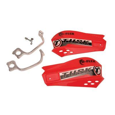 Tusk MX D-Flex ATV Handguards Red