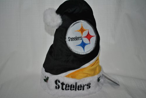 - Forever Collectibles Pittsburgh Steelers Plush Holly NFL Team Logo Santa Hat