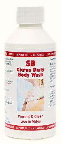 SB Body Wash 250ml Prevent & Clear Lice & Mites Natural Enzymes