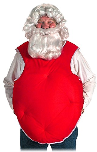 Halco Santa Suit Red Belly Stuffer, Red, One Size