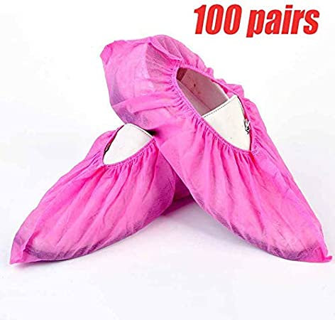Household Thick Non-woven Shoe Covers Anti-static Anti-slip Washable Shoe Cover