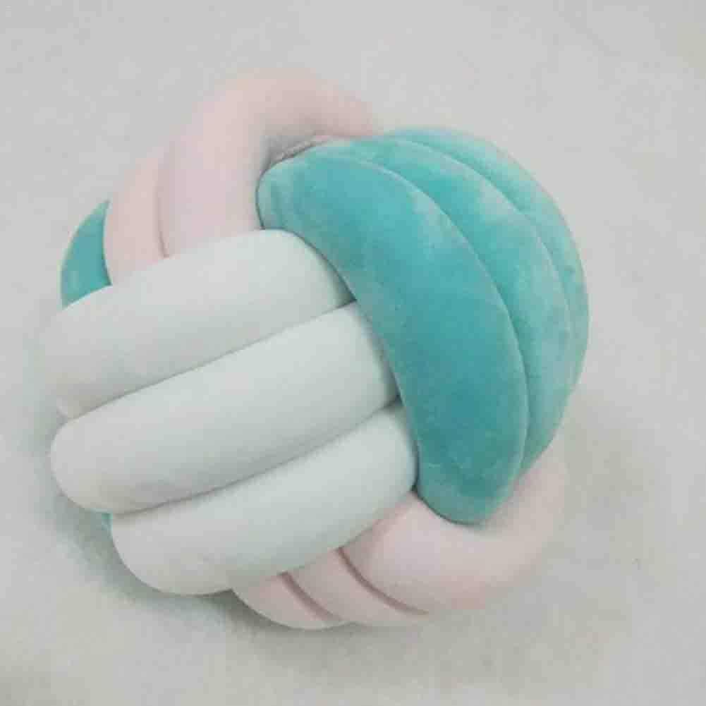 Coussin Cr/éatif en Forme de Volley-ball Oreiller 3 Couleurs M/élang/ées /à la Main Oreiller Noeud Oreiller Multicolore Coussin cr/éatif fait main