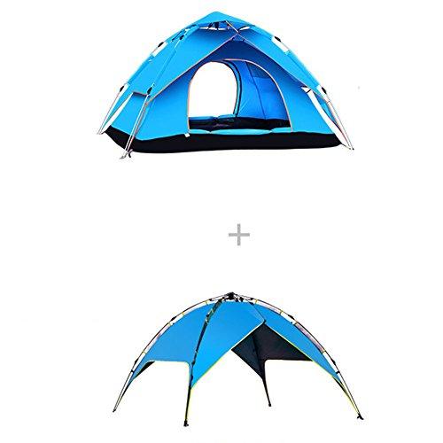 みなさんヒップ生態学5W アウトドアテント 4-5人用 3WAY テント 設営簡単 高通気性 紫外線カット 防雨 防風 キャンプ用品 アウトドア 登山 折りたたみ 収納ケース ツーリングテント 240*210*135cm 3.7kg