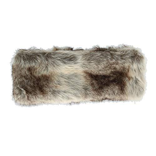 d72e2c5057bdb Pia Rossini Women's Faux Fur Headband with Fleece Lining, Wolf
