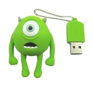 16GB Mini Mike, Wazowski, Monster Inc. Shaped Cute Cartoon USB Flash Drives, Data Storage Device, USB Memory Stick Pen, Thumb Drive