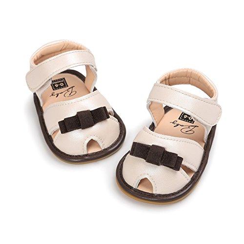 Sandalías de bebé Sandía agradabel para nenas Zapatos en verano para bebé Suela suave y antideslizantes Café