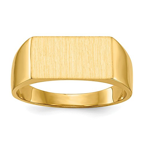 14k Signet Ring, 14 kt Yellow Gold, Size 8