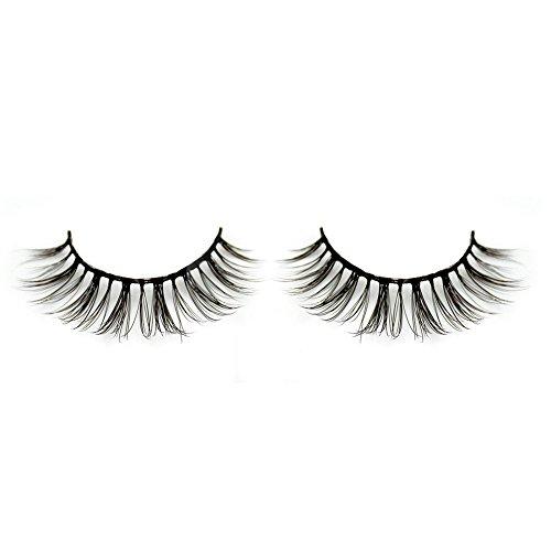 BEPHOLAN False Lashes 3 Pairs 3D Mink Eyelashes Soft Fake Eyelashes Natural Look Reusable Handmade Fake Eyelashes(xmz028)