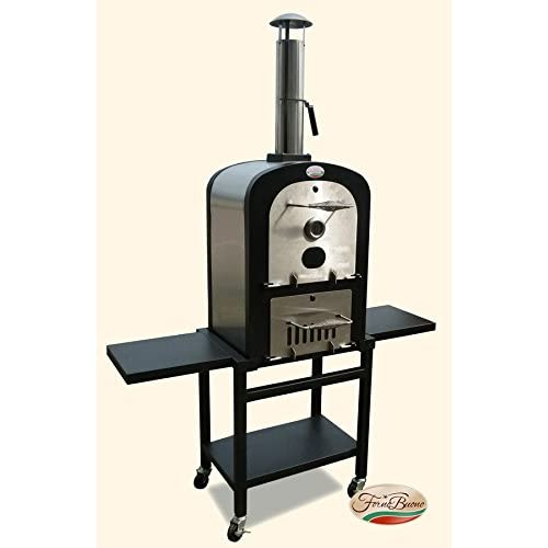 FORNO BUONO® SORRENTO OUTDOOR PATIO WOOD/ CHARCOAL FIRED Pro- PIZZA OVEN, BBQ