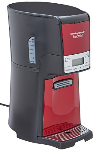 Hamilton Beach BrewStation 12-Cup Dispensing Coffeemaker, 48466-MX, Candy Apple ()