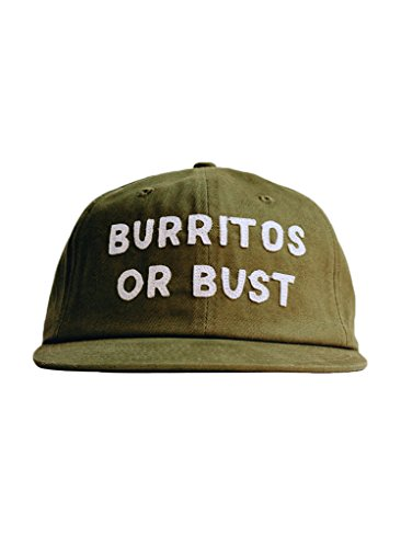 Burritos or Bust Food Foodie Vintage Style Strapback Hat Chipotle Texmex (Style Chipotle)
