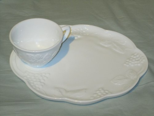 Buy indiana milk glass harvest plate