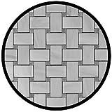 Carrara Marble Italian White Bianco Carrera Basketweave Mosaic Tile with Bardiglio Gray Dots Honed
