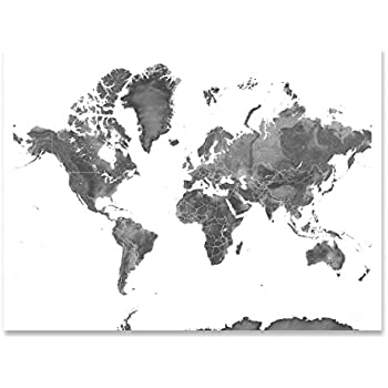 Amazon world map contemporary poster art print posters prints map of the world black and white landscape art print earth gumiabroncs Gallery