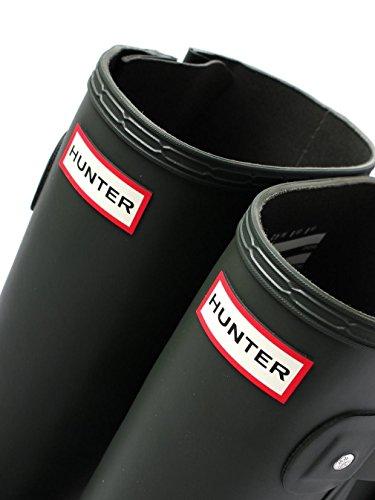 Hunter Hombre Botas de agua original laterales ajustables, Negro Dark Olive